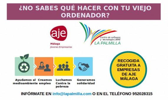 Campaña de recogida de equipos AJE MÁLAGA