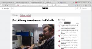 Diario Sur: Portátiles que reviven en La Palmilla